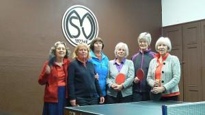 Tischtennis Damenmannschaft